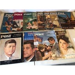 LOT OF 11 MAGAZINES (SATURDAY EVENING POST) *VINTAGE* (1964-68)