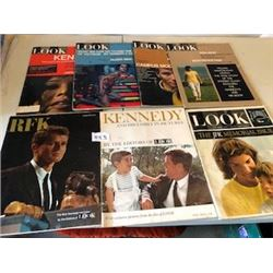 LOT OF 7 MAGAZINES (LOOK, KENNEDY, RFK, ETC…) *VINTAGE*