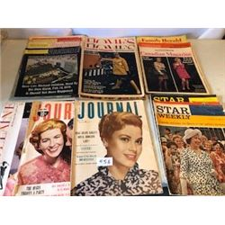 LOT OF 22 ASSORTED MAGAZINES ( JOURNAL, STAR WEEKLY, ETC…)