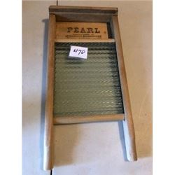 "SMALL WASHBOARD (PEARL) *NICE SHAPE* (17"" TALL X 8.5"" WIDE)"