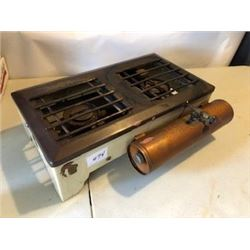 PORTABLE COOK STOVE (COLEMAN) *COPPER FUEL TANK* (PORCELAIN ENAMEL BODY)