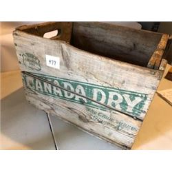 CANADA DRY CRATE (WOOD) *1971*