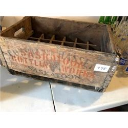 WOOD BOTTLE CRATE (SASKATOON BOTTLERS) *1930'S*