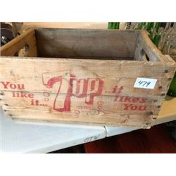 7-UP CRATE (WOOD) *1961*