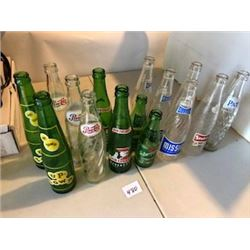 LOT OF 15 ASSORTED POP BOTTLES