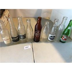 LOT OF 9 ASSORTED BOTTLES (6-7 OUNCES)