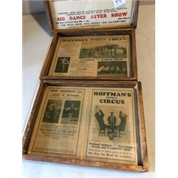 LOT OF 3 FRAMED CIRCUS POSTERS AND PROGRAM SET (HOFFMANS CIRCUS) *1930'S*