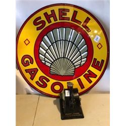 "**REPRODUCTION**SIGN (SHELL GASOLINE) *30"" DIAMETER)"