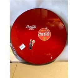 "SIGN**FANTASY ITEM**NON-PRODUCTION**(COCA-COLA BUTTON) *27"" DIAMETER*"