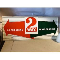 "SIGN (2 WAY-29' X 12"") *METAL* (1963) *N.O.S. DOOR KICK PLATE*"