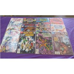 LOT OF 12 SUICIDE SQUAD COMICS