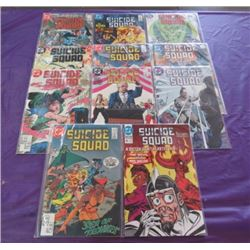LOT OF 11 SUICIDE SQUAD COMICS