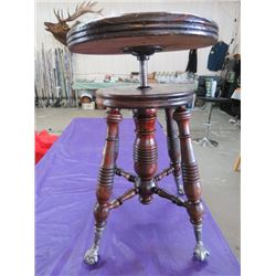 """PIANO STOOL (CLAW AND BALL FEET) *22"""" X 14""""*"""