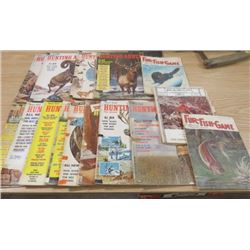 LOT OF FISH AND GAME HUNTING BOOKS (1960'S)