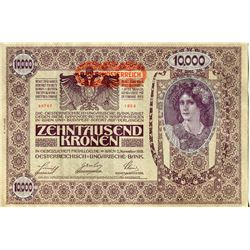 CURRENCY (AUSTRIAN-HUNGARY) *1918* (10,000 KRONEN)