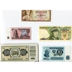 LOT OF 5 RUSSIAN BANK NOTES
