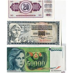 LOT OF 6 RUSSIAN BANK NOTES
