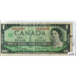ONE DOLLAR BILL (CANADA) *RARE M/P PREFIX* (1967)