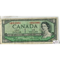 ONE DOLLAR REPLACEMENT NOTE (CANADA) *1954*