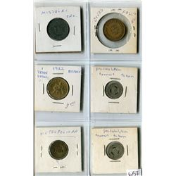 LOT OF 6 USA WORKS AND TAX TOKENS