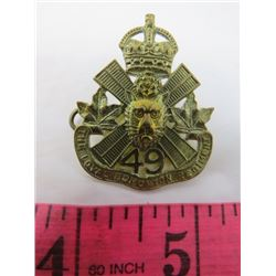 BADGE (THE ROYAL EDMONTON REGIMENT) *49*