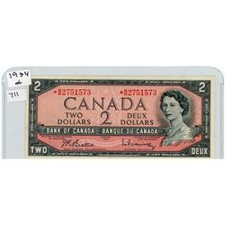 TWO DOLLAR REPLACEMENT NOTE (CANADIAN) *1954*