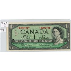 ONE DOLLAR REPLACEMENT NOTE (CANADIAN) *1954*