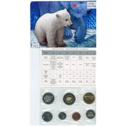 PROOF SET (CANADIAN) *7 COINS; 1 CENT TO 2 DOLLARS* (ROYAL CANADIAN MINT)