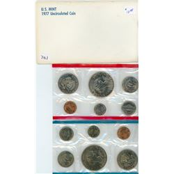 LOT OF 2 PROOF SETS (USA) *1977* (6 COINS; 1 CENT TO ONE DOLLAR)