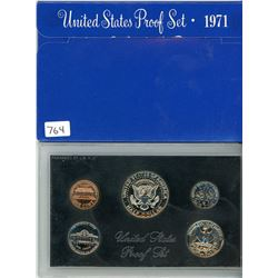 PROOF SET (USA) *1971* (5 COINS) *PLASTIC DISPLAY CASE*