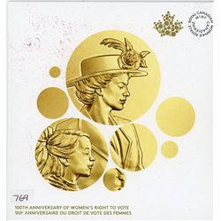 ONE DOLLAR COIN (CANADIAN) *100TH ANNIVERSARY WOMEN'S RIGHT TO VOTE* (ROYAL CANADIAN MINT)