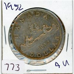 ONE DOLLAR COIN (CANADIAN) *1952* (SILVER)