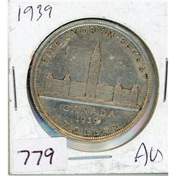 ONE DOLLAR COIN (CANADIAN) *1939* (SILVER)