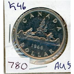 ONE DOLLAR COIN (CANADIAN) *1946* (SILVER)