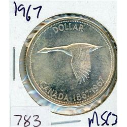 ONE DOLLAR COIN (CANADIAN) *1967* (SILVER)