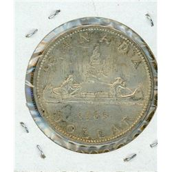 ONE DOLLAR COIN (CANADIAN) *1965* (SILVER)