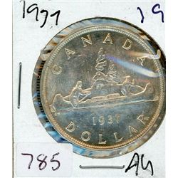 ONE DOLLAR COIN (CANADIAN) *1937* (SILVER)