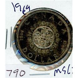 ONE DOLLAR COIN (CANADIAN) *1964* (SILVER)