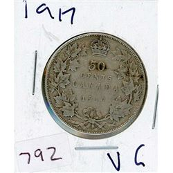 FIFTY CENT COIN (CANADIAN) *1917* (SILVER)
