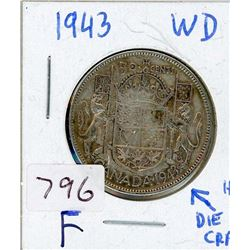 FIFTY CENT COIN (CANADIAN) *1943* (SILVER)