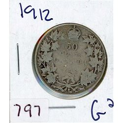 FIFTY CENT COIN (CANADIAN) *1912* (SILVER)