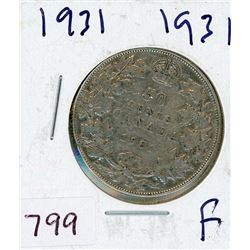 FIFTY CENT COIN (CANADIAN) *1931* (SILVER)