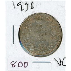 FIFTY CENT COIN (CANADIAN) *1936* (SILVER)