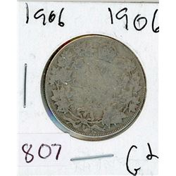FIFTY CENT COIN (CANADA) *1906* (SILVER)