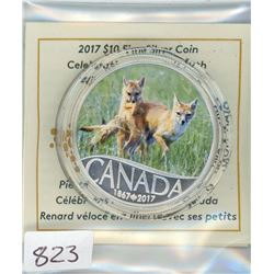 TEN DOLLAR COIN (CANADIAN) *2017* (WILD SWIFT FOX)