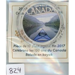 TEN DOLLAR COIN (CANADIAN) *2017* (KAYAKIGNON RIVER)