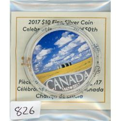 TEN DOLLAR COIN (CANADIAN) *2017* (CANOLA FIELD)