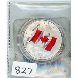 TWENTY FIVE DOLLAR COIN (CANADIAN) *2015* (CANADIAN FLAG)