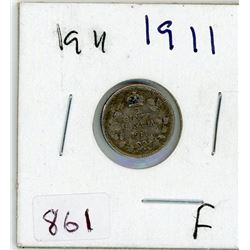 FIVE CENT COIN (CANADIAN) *1911* (SILVER)