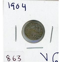 FIVE CENT COIN (CANADIAN) *1904* (SILVER)